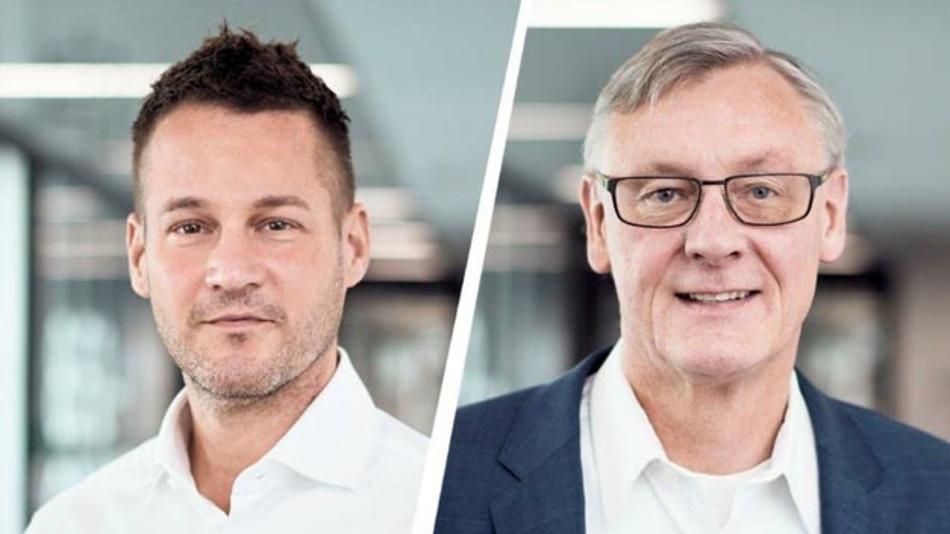 Daimler Truck hat eine neue Tochter gegründet: Daimler Truck Fuel Cell bündelt zukünftig alle konzernweiten Brennstoffzellen-Aktivitäten. Dr. Andreas Gorbach (links) und Prof. Dr. Christian Mohrdieck werden als Geschäftsführer die neue Gesellschaft leiten.