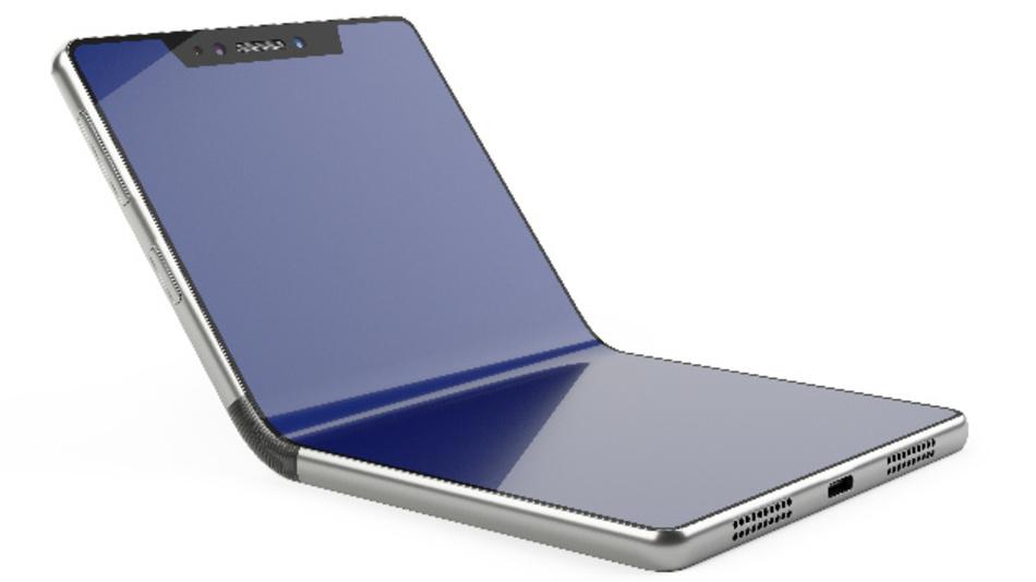 Erweiterte Sensorfunktionen für Smartphones: Die Displayposition eines faltbaren Smartphones lässt sich über einen Winkelsensor direkt ausgeben.