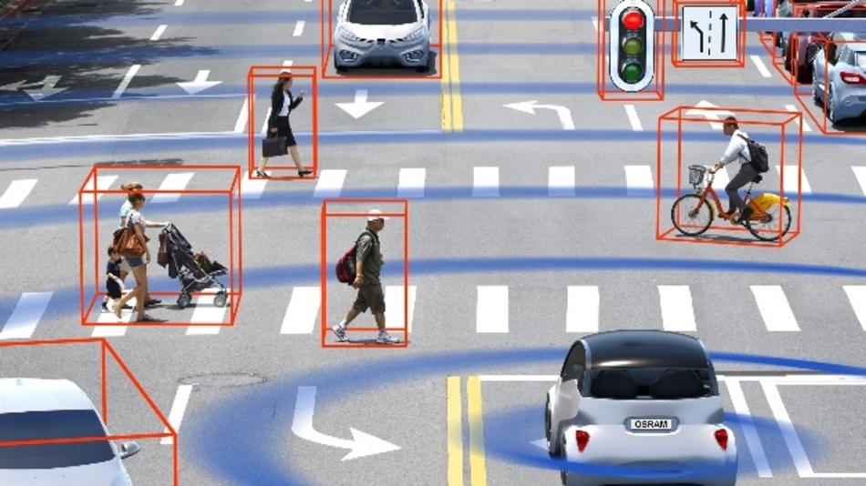 Short- bzw. Mid-range-LiDAR (bis ca. 90 m Entfernung) deckt klassische Verkehrssituationen etwa den Stadtverkehr ab.
