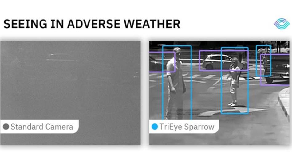 Die SWIR-Sensortechnologie des israelischen Startups TriEye soll die Sichtbarkeit bei widrigen Wetter- und Nachtbedingungen verbessern.
