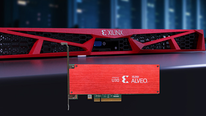 Beschleunigerkarte Alveo U30 und RT-Server von Xilinx