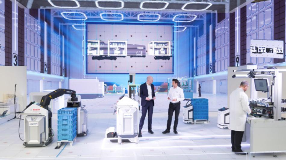 Für die »Fabrik der Zukunft« setzt Bosch auf 5G als zentralen Baustein.