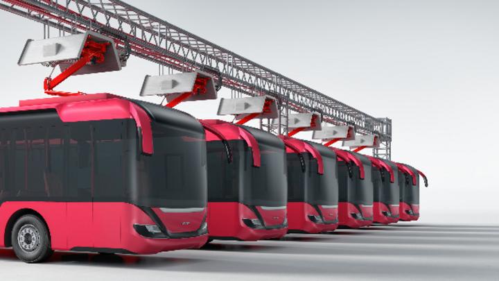 Das neue Steuergerät VC-EVCC-P unterstützt das Laden via Pantographen, beispielsweise für Elektrobusse.