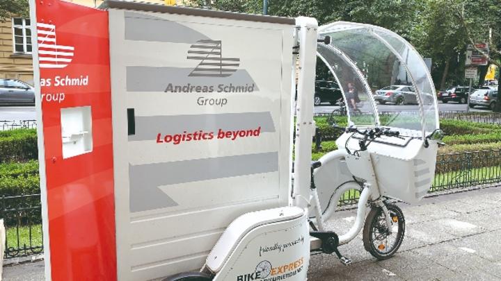 Andreas Schmid Logistik ist seit Herbst 2019 mit Elektro-Lastenrädern testweise in der Augsburger City unterwegs.