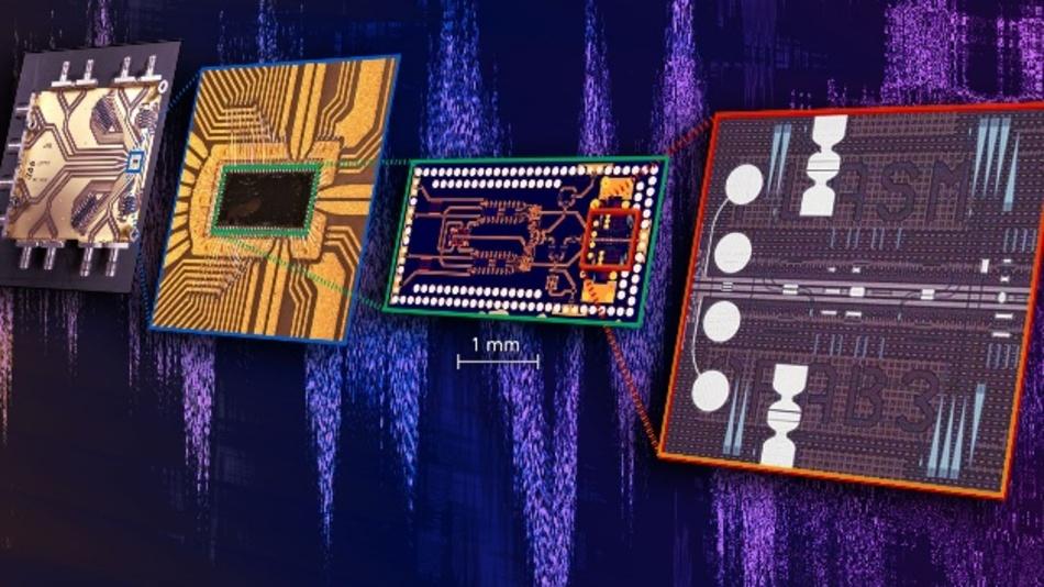 Der neue, hochkompakte Chip fügt erstmals schnellste elektronische und lichtbasierte Bauelemente in einer Komponente zusammen.