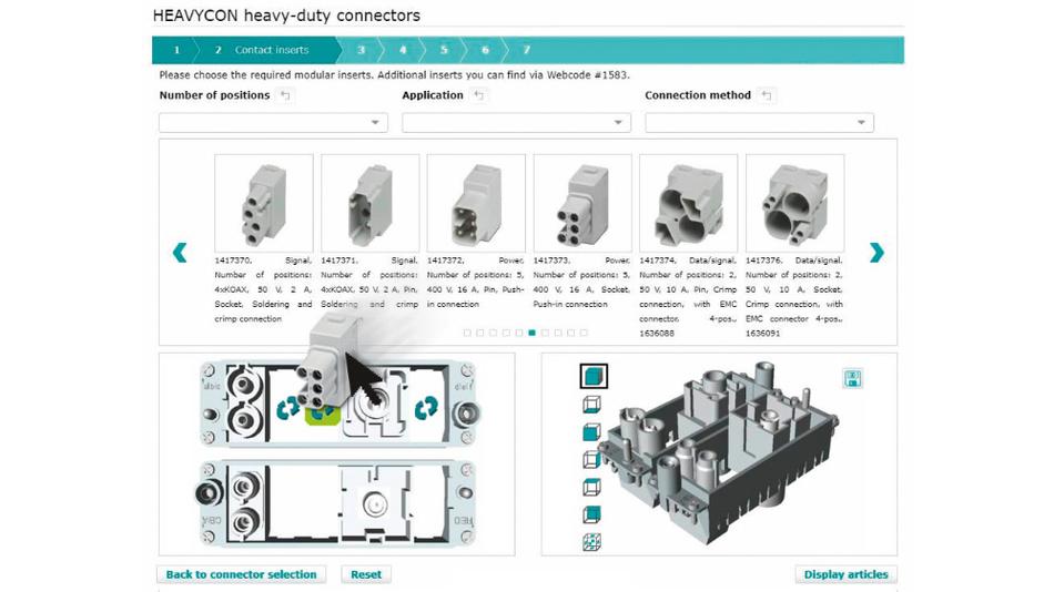 """Bild 1. """"Drag & Drop"""" und übersichtliche Oberfläche: Die Anwender des Heavycon-3D-Konfigurators profitieren von der intuitiven Bedienung des digitalen Werkzeugs."""