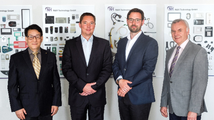 Von links nach rechts: Yine Zhang, Dominik Genz, Markus Zemke, Eugen Froch.