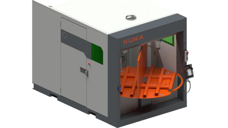 In Produktionsstätten brauchen die »Kuka-cell4_production«-Zellen nur wenig Standfläche.