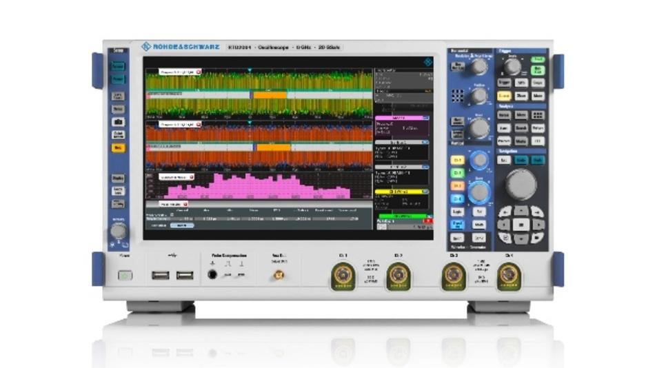 Die Software-Option R&S RTx-K35 für das Oszilloskop R&S RTO unterstützt hochpräzise Latenzmessungen.