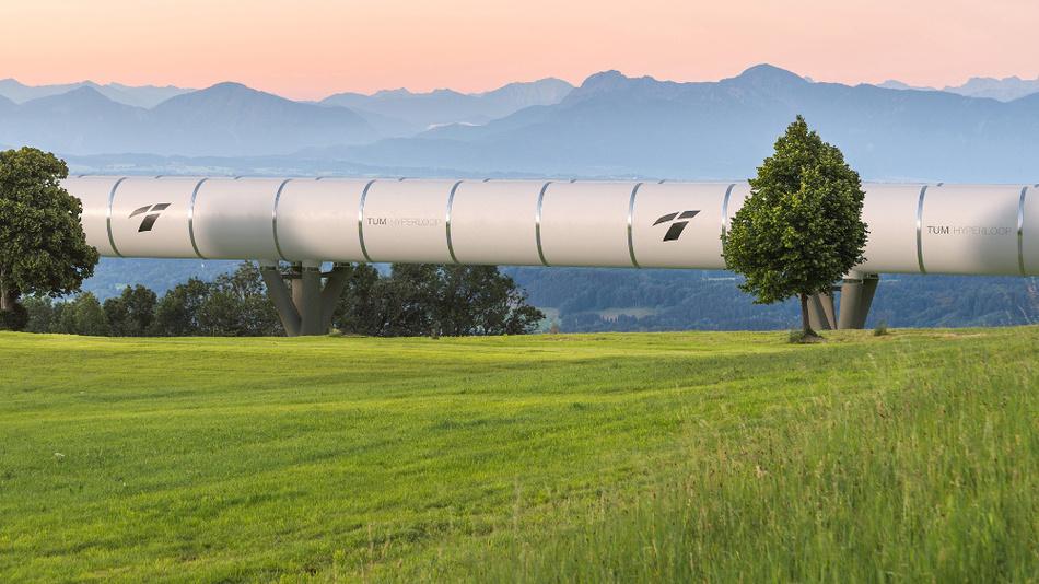 Auf dem Ludwig-Bölkow-Campus in Ottobrunn forscht die TU München am neuen Ultra-Schnellzug Hyperloop.