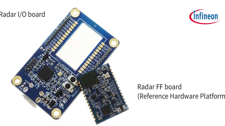Das Infineon Radar-Board Smart Entrance Counter »KIT BGT60TR13C EMBEDD« mit integrierter Software ist ab sofort zum Testeinbau verfügbar