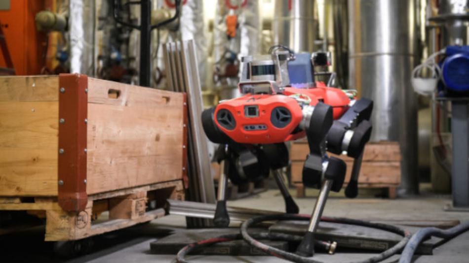 Bild 1. »ANYmal C« von ANYbotics ist ein robuster Roboter, der zum Einsatz in für den Menschen eher unangenehmen Umgebungen entwickelt wurde.