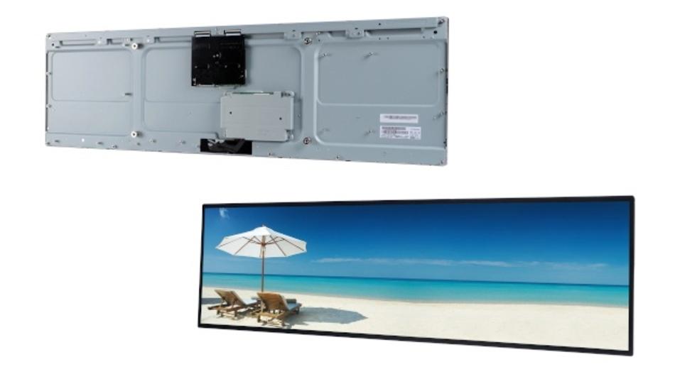 """Mit dem P370IVN04.0 bietet AUO ein Bar Type TFT Display, das sich sowohl im Landscape-, als auch im Portaitmodus einsetzen lässt. Sein Panoramaformat eignet sich perfekt für Bereiche, die zu wenig Platz für ein Standarddisplay bieten. Durch die hohe Helligkeit von 2500 cd/m² sind Inhalte auch bei hoher Umgebungshelligkeit und sogar in direktem Sonnenlicht gut ablesbar. Der verwendete Advanced-Wide-Temperature-Flüssigkristall verhindert dabei ein Schwärzen der Anzeige. Der Konverter für die LED Hintergrundbeleuchtung ist bereits im Panel integriert. Ein weiter Blickwinkel von 89° aus allen Richtungen wird durch die A-MVA-Technologie garantiert. Das P370IVN04.0 ist solo lieferbar, aber auch als plug-and-play-Kitlösung oder als fertig montierter, CE-zertifizierter Komplettmonitor Xtra-Line 37"""". Verfügbar ist das Display über Distec."""