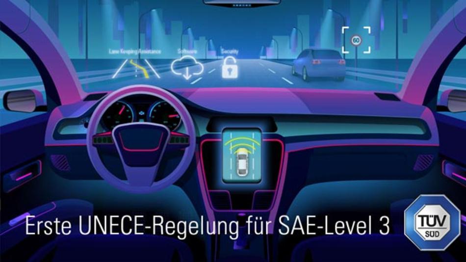 42 Staaten haben sich erstmals auf gemeinsame Anforderungen für die Typgenehmigung einer automatisierten Fahrfunktion (SAE-Level 3) verständigt.