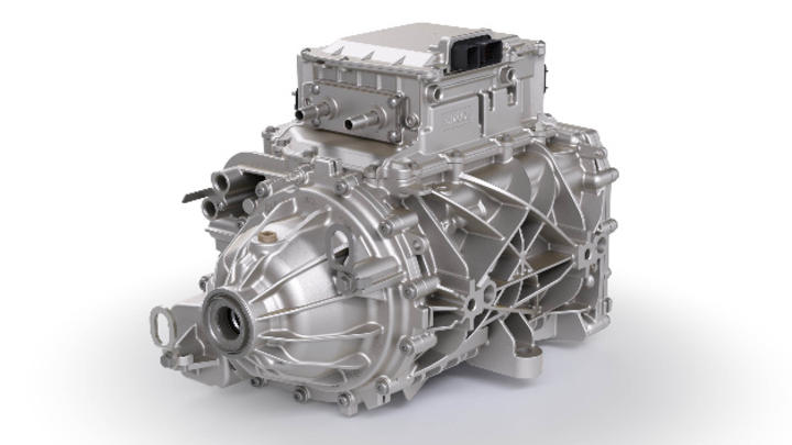 Das iDM von BorgWarner besteht aus eigenem Getriebe sowie Motor und Leistungselektronik von anderen Herstellern.
