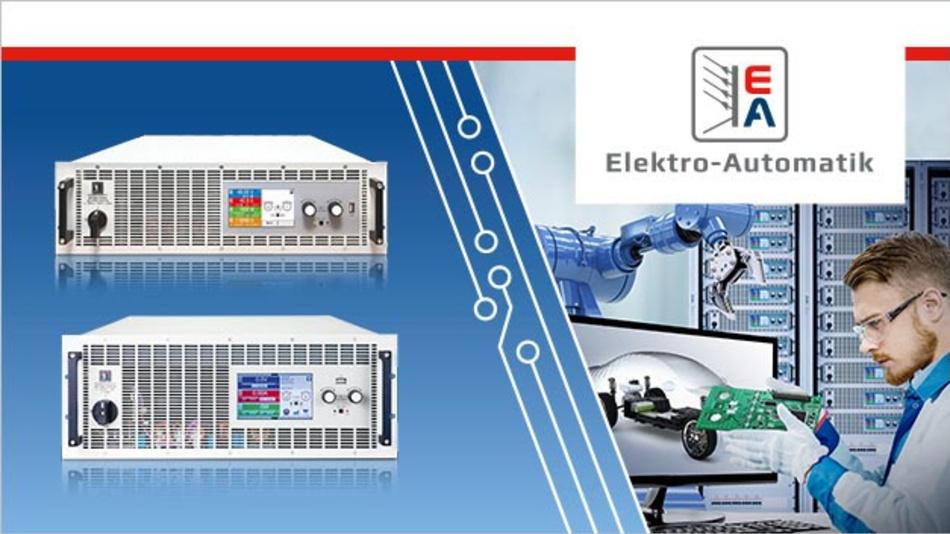 Das Produktsortiment von EA-Elektro-Automatik deckt den kompletten Bereich der programmierbaren Leistungselektronik ab.
