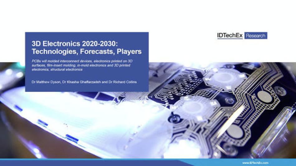 Welche Zukunft haben räumliche elektronische Baugruppen (MID)? Dieser Frage geht IDTechEx in einem Bericht nach.