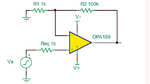 Beschalteter Operationsverstärker (OPA189 [2]) zur Ermittlung des RMS-Rauschens und des SNR
