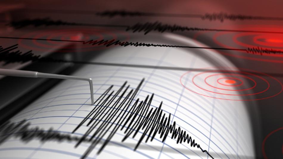Mit einem Seismographen können Erdbeben aufgezeichnet werden.