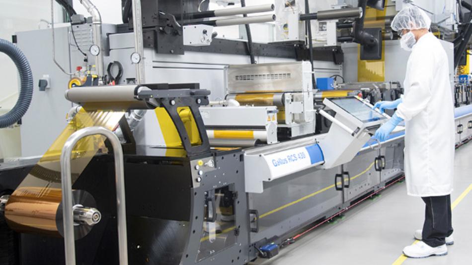 Gedruckte Elektronik, gefertigt im Rolle-zu-Rolle-Verfahren.