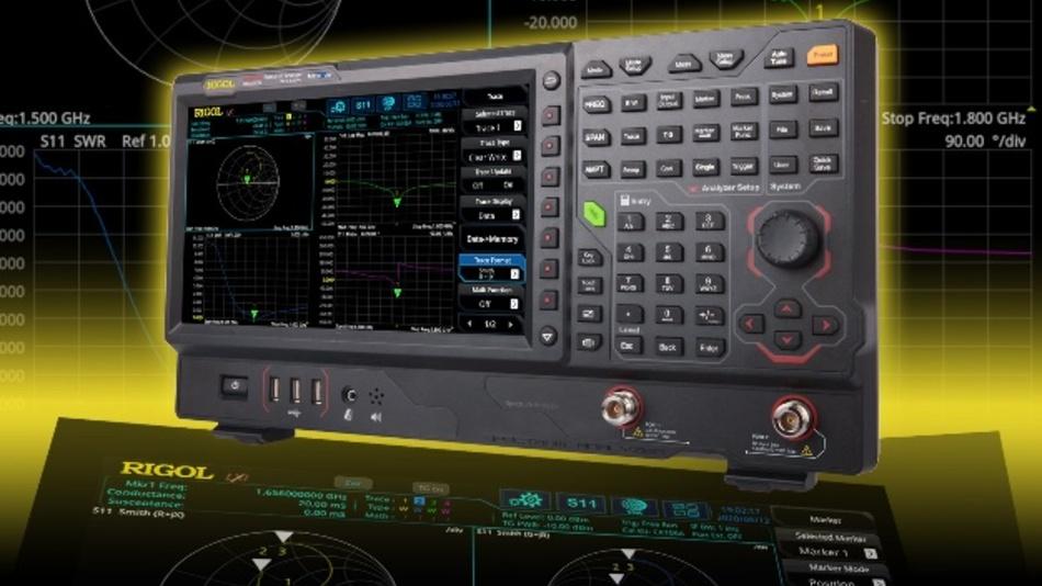 Echtzeit-Spektrumanalysator RSA5065N von Rigol mit integrierter VNA-Funktion.