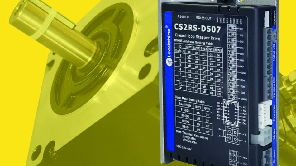 Bei Koco Motion ab Stückzahl 1 sofort verfügbar ist das neue Komplettset von Leadshine aus Schrittmotor, Encoder und Steuerung.