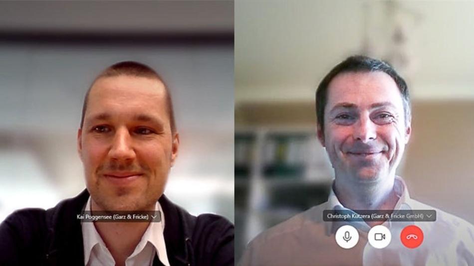 Kai Poggensee, CTO und Christoph Kutzera, Head of Solutions bei Garz & Fricke.