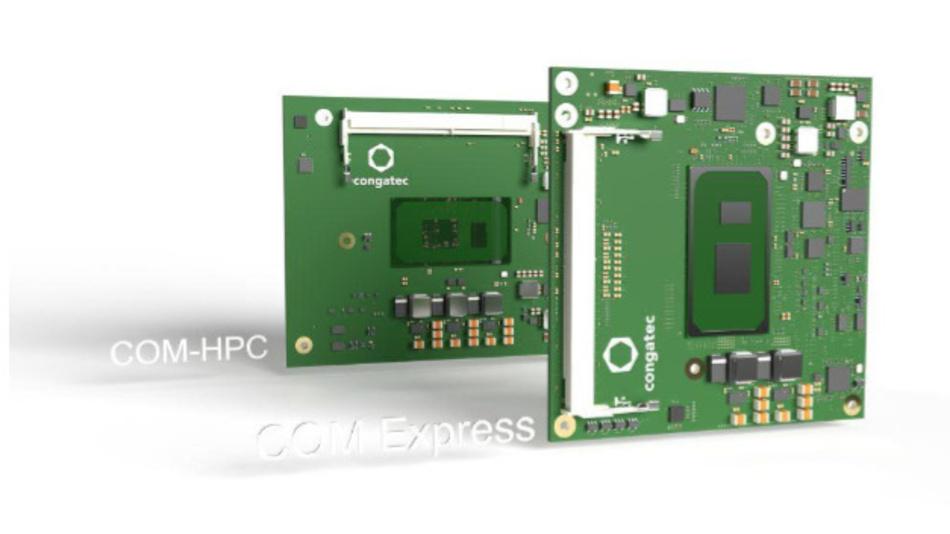 Bild 1. Congatec macht die elfte Intel-Core-Prozessorgeneration auf COM-HPC Client Size A und COM Express Compact verfügbar.
