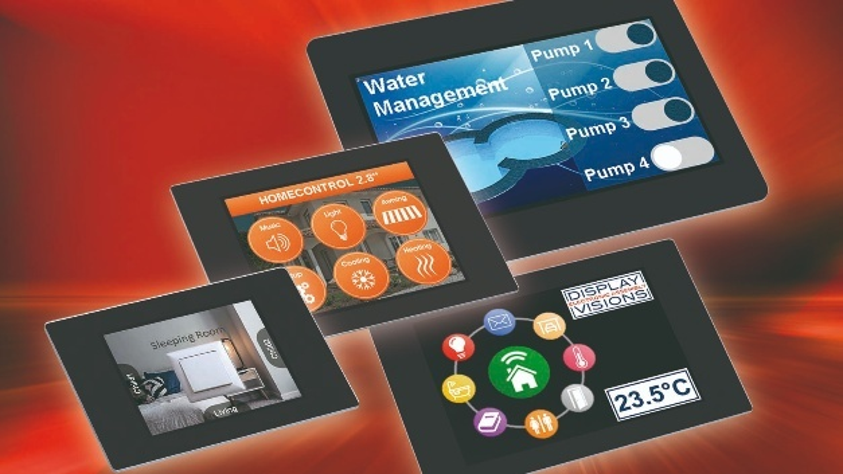 Die uniTFTs-Serie von Electronic Assembly verleiht jedem Schalter und Steuergerät den Bedienkomfort eines Tablets.