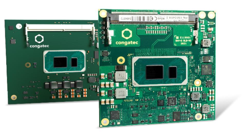 Das COM-HPC Client Size A Modul »conga-HPC/cTKLu« sowie das COM Express Compact »conga-TC570« sind mit verschiedenen Intel Core Prozessoren der 11. Generation erhältlich.