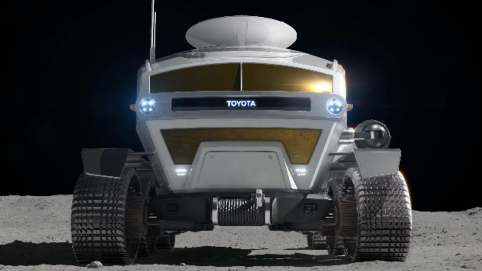 So sieht das über Brennstoffzellen angetriebene Mondfahrzeug von Toyota aus.