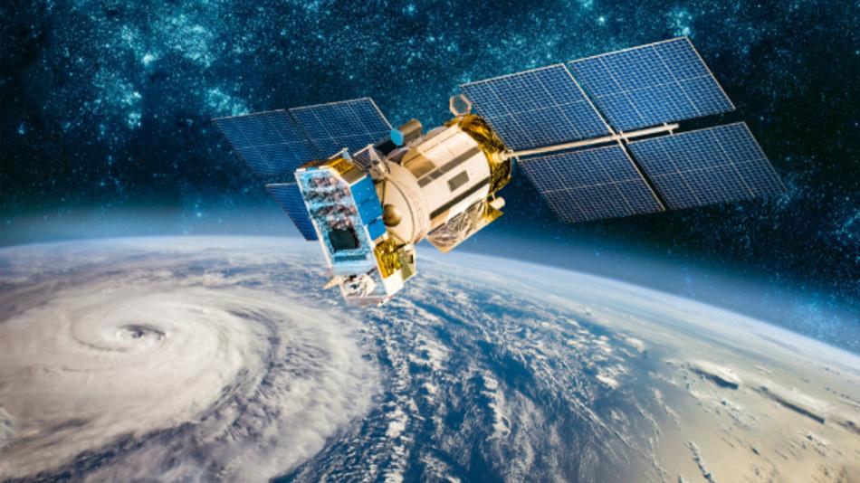 Weltraumsatellitenüberwachung zum Beispiel für Wetterprognosen.