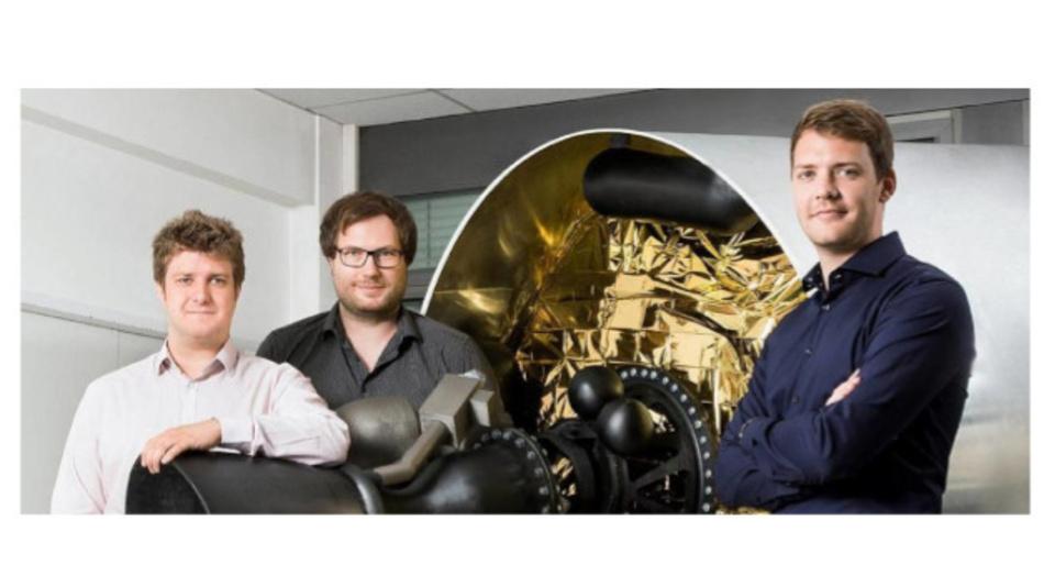 The founder of Isar Aerospace (f.l.t.r.): Josef Fleischmann, Markus Brandl und Daniel Metzler.