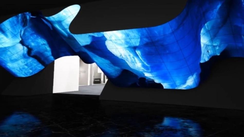 """Die """"OLED New Wave"""" von LG ist eine Installation aus flexiblen Bildschirmen und zeigt, was mithilfe der OLED-Technologie möglich ist."""