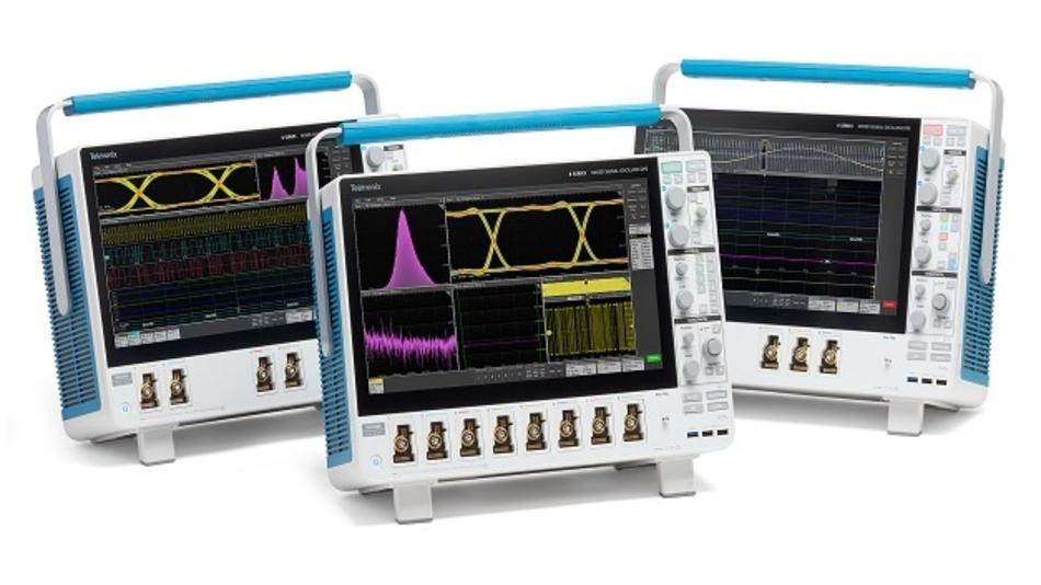 Die MSO-Serie 6 B von Tektronix umfasst Geräte mit 4, 6 oder 8 Kanälen und 10 GHz Bandbreite.
