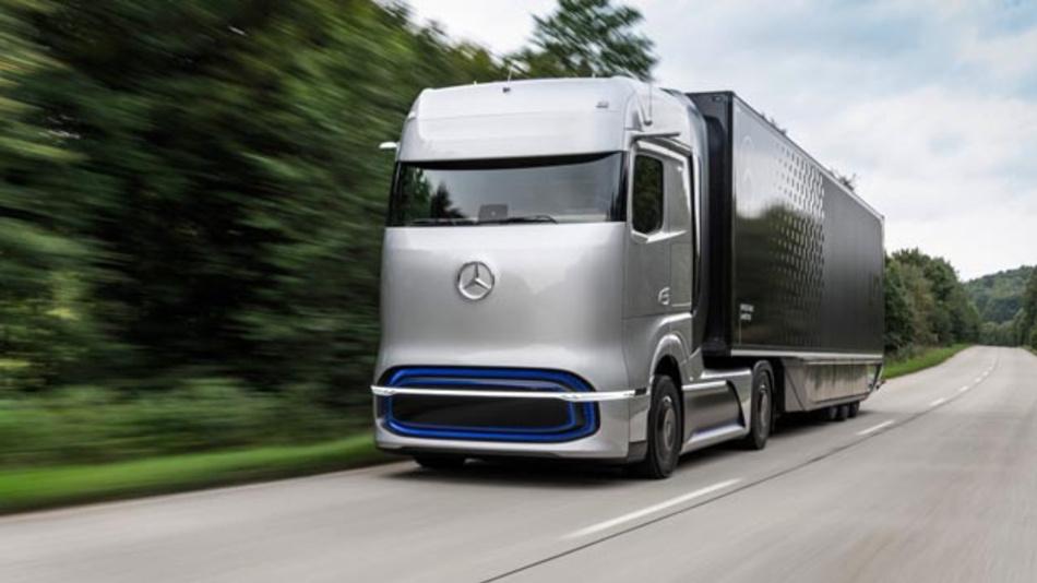 Mit dem Mercedes-Benz GenH2 Truck präsentiert Daimler Trucks sein Konzept für ein brennstoffzellenbetriebenes Langstreckenfahrzeug. Start der Serienproduktion ist für die zweite Hälfte der 2020er Jahre geplant.