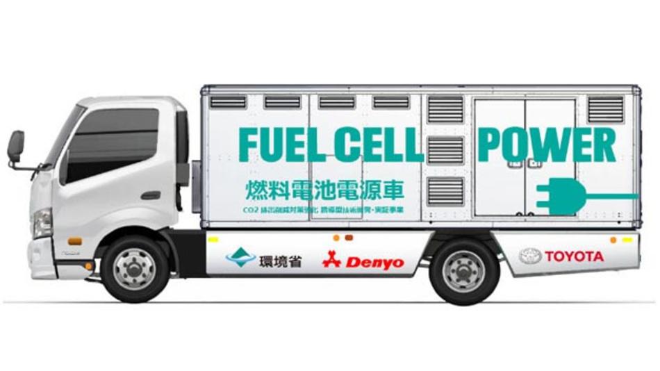 Gemeinsam mit Denyo hat das Unternehmen Toyota ein Brennstoffzellen-Nutzfahrzeug entwickelt.
