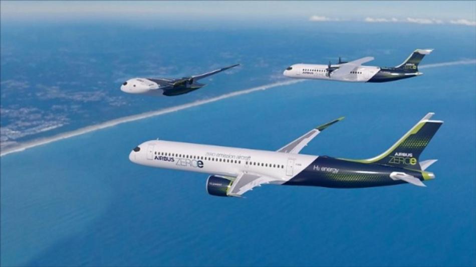 Airbus hat drei Konzepte für das erste emissionsfreie Verkehrsflugzeug der Welt vorgestellt, das bis 2035 umgesetzt werden könnten. Diese Konzepte stellen jeweils einen unterschiedlichen Ansatz zur Erreichung eines Null-Emissions-Fluges dar, wobei Airbus verschiedene Technologiepfade und aerodynamische Konfigurationen erforscht.   Alle diese Konzepte stützen sich auf Wasserstoff als primäre Energiequelle - eine Option, die nach Ansicht von Airbus als sauberer Flugzeugtreibstoff außerordentlich vielversprechend ist und wahrscheinlich eine Lösung für die Luft- und Raumfahrt und viele andere Industriezweige darstellt, um ihre klimaneutralen Ziele zu erreichen.