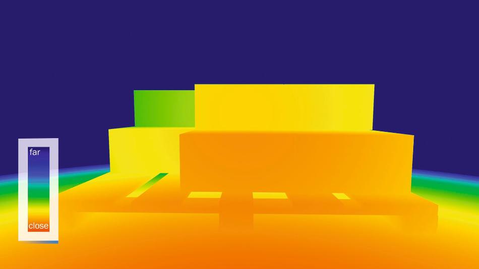 Mit der 3DToF-Kamera von Sick lassen sich Entfernung und Position im Raum bestimmen.