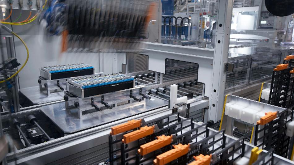 Die Produktion von Batteriemodulen bei BMW.