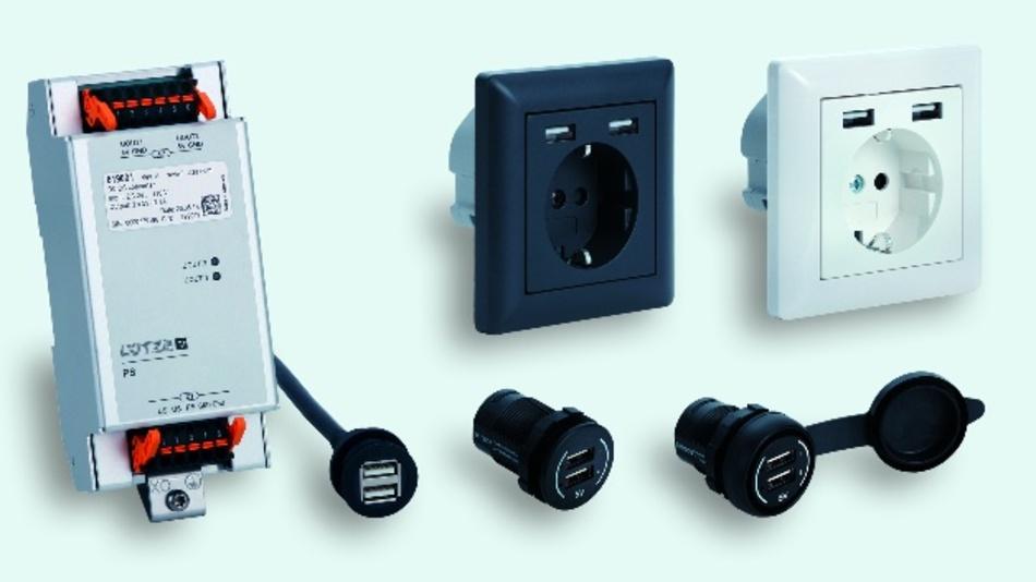 Bahntaugliche USB-Ladeports von Lütze Transportation