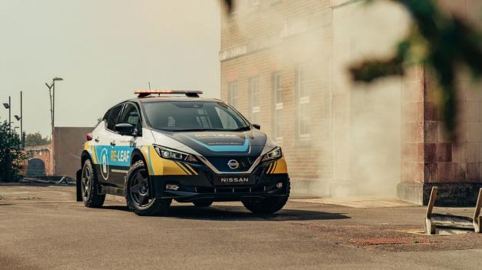 Der Nissan Re-Leaf soll für die mobile Energieversorgung nach Naturkatastrophen und Stromausfällen sorgen.
