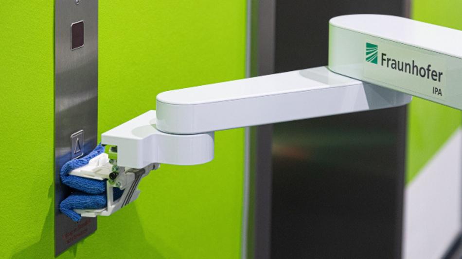 Verfahren des maschinellen Lernens ermöglichen es, die zu reinigenden Objekte im Raum zu detektieren, hier am Beispiel von Türklinken in einem Flur.