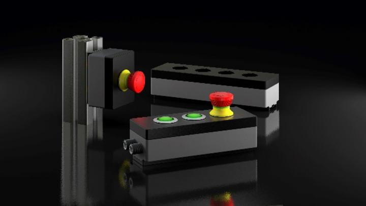 Die Gehäuse der Serie »proboxx« von Schlegel Elektrokontakt verleihen elektromechanischen Bedienelementen Connectivity.
