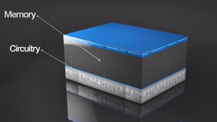 Der Aufbau der neuen CMOS-under-Array-Architektur von Micron.