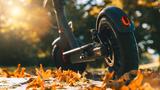 E-Scooter-im Herbstlaub