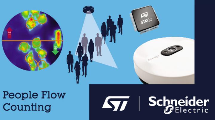 STMicroelectronics und Schneider Electric haben ein KI-basiertes System zur Personenzählung in Gebäuden entwickelt.