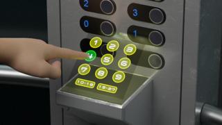 Berührungsloser Touchscreen mit Holografischer Eingabe  Die aktuelle Situation inmitten der Corona-Pandemie lenkt das Interesse auf eine Bedienung von Geräten, die keinen direkten körperlichen Kontakt fordert. Die holografische Eingabe arbeitet mit e
