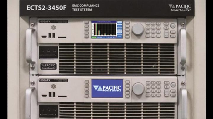 Bei Messung der Störaussendung wird automatisch während der ganzen Messdauer die Oberwellengüte der AC-Quelle bewertet und dokumentiert.