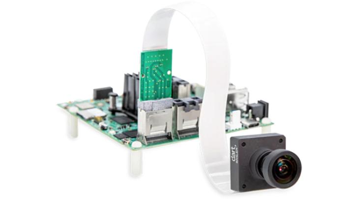 MIPI-Kameramodul des daA4200-30mci-MX8MM-VAR am NXP-Evaluationsboard i.MX 8M Plus EVK.